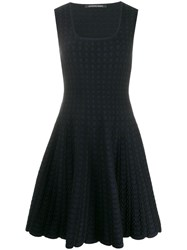 Antonino Valenti Sleeveless Flared Dress Black