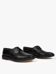 Adieu Black Textured Leather Wtype 1 Derby Shoes