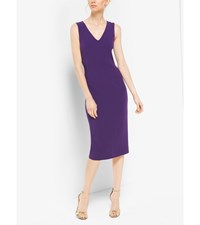 Double Face Silk And Wool Sheath Dress