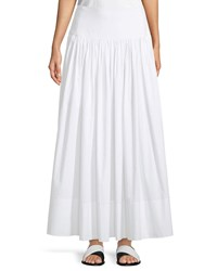 Elizabeth And James Shirley Ruched Cotton Maxi Skirt White