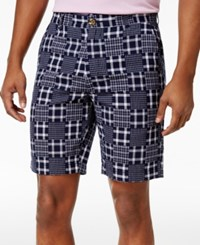 Club Room Men's Patchwork Shorts Only At Macy's Navy Blue