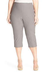 Plus Size Women's Eileen Fisher Stretch Jersey Slim Capri Pants