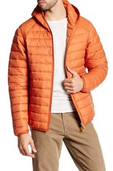 Save The Duck Quilted Hoodie Jacket Brown