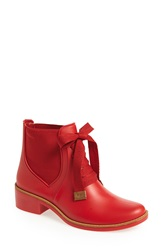Bernardo Footwear 'Lacey' Short Waterproof Rain Boot Women Red