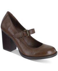 Mia Susy Mary Jane Pumps Women's Shoes Coffee