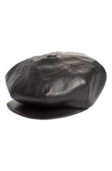 Undercover Women's Leather Newsboy Cap