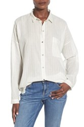 Bp Stripe Shirt White