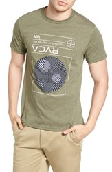 Rvca Men's System Graphic T Shirt Fatigue
