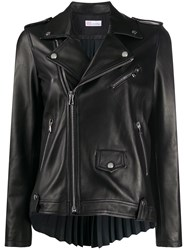 Red Valentino Pleated Back Leather Jacket 60