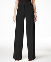 Alfani Pintucked Wide Leg Pants Only At Macy's Black