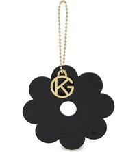 Kurt Geiger London Flower Bag Charm Black
