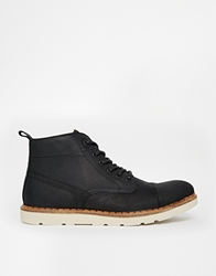 Pull And Bear Pullandbear Boots With Contrast Sole Black