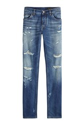 Dolce And Gabbana Slim Distressed Jeans
