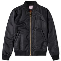 Palm Angels Maxi Zip Bomber Jacket Black