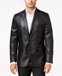 Inc International Concepts Men's Slim Fit Faux Leather Blazer Only At Macy's Black