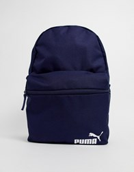 Puma Phase Backpack With Small Logo In Navy Red