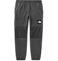 The North Face Denali Tapered Shell Panelled Fleece Sweatpants Dark Gray