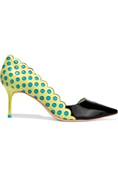 Sophia Webster Aneeka Smooth And Patent Leather Pumps Yellow