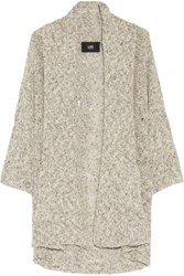 Line Colby Distressed Cotton Blend Sweater Cream