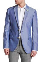 14Th And Union Two Button Notch Lapel Oxford Jacket Blue