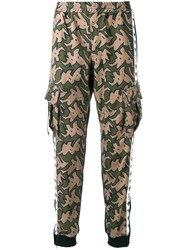P.A.M. Perks And Mini Pam Camouflage Print Track Pants Green