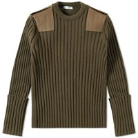 Valentino Military Crew Knit Green