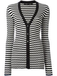 Proenza Schouler Striped Cardigan Black