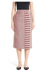 Oscar De La Renta Women's Houndstooth Pencil Skirt