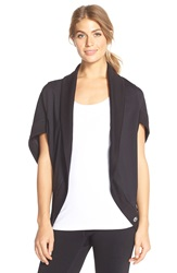Trina Turk Open Front Cocoon Cardigan Black
