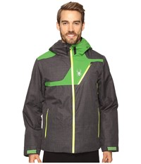 Spyder Enforcer Jacket Polar Crosshatch Blade Bryte Yellow Men's Coat Black