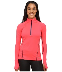 Marmot Interval Half Zip Long Sleeve Bright Pink Arctic Navy Women's Long Sleeve Pullover