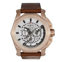 Orefici Gladiatore Vintage Watch Rose Gold Light Brown