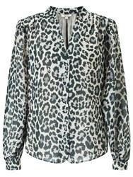 Alice By Temperley Somerset Animal Print Top Grey