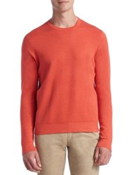 Saks Fifth Avenue Collection Tech Silk And Cashmere Sweater Light Blue Light Grey Coral