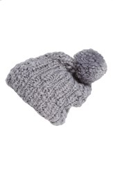 Women's Collection Xiix 'Roving Yarn' Slouchy Beanie Grey Sleet Gray