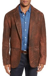 Flynt Men's Big And Tall Distressed Lamb Leather Sport Coat Vintage Tobacco