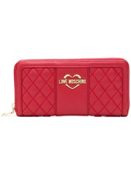 Love Moschino Quilted Wallet Red