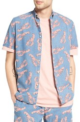 Barney Cools Men's Cool Lobster Print Chambray Shirt