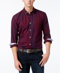 Tommy Hilfiger Men's Archer Check Shirt Zinfandel