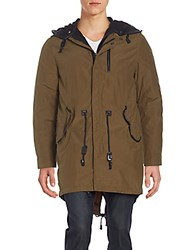 Mackage Chip Layered Parka Khaki