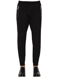 Dsquared 15Cm Jogging Fit Stretch Wool Pants Black