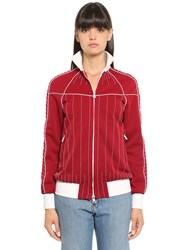 Valentino Stitching Techno Gabardine Track Jacket Red
