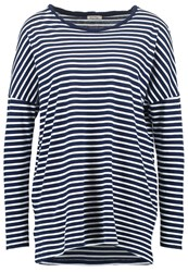 American Vintage Tinibay Long Sleeved Top Petrole Ray White