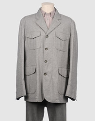 Montedoro Mid Length Jackets Light Grey