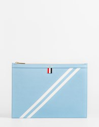 Thom Browne A4 Document Holder Light Blue