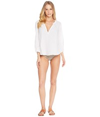 Eberjey Paz The Peasant Top White Clothing