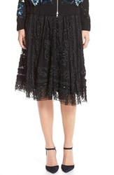 Women's Needle And Thread Embellished Midi Skirt