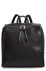 Bp. Whipstitch Faux Leather Square Backpack Black