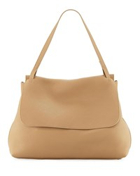 The Row Top Handle 14 Satchel Bag In Lux Grained Leather Beige