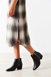 Urban Outfitters Stef Double Zipper Ankle Boot Black
